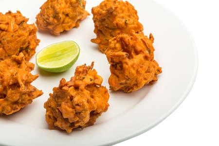 Onion bhajee - fried chickpea flour with onion and spices photo