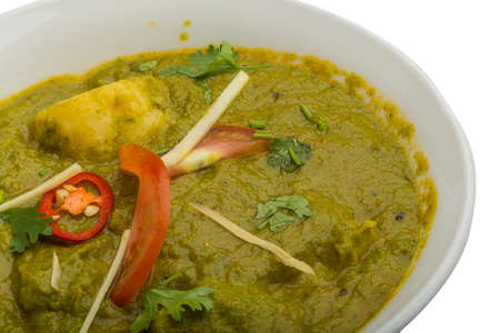 Sag Alu - spinach with potato Indian food