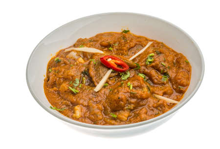 Lamb vindaloo - traditional Indian food photo