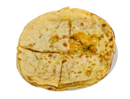 Alu Naan - traditional indian bread photo