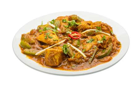 Chicken Jhalfrazi - indian cuisine chicken with pepper and herbs photo