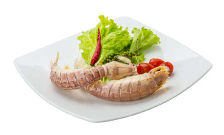 spiny: Boiled Spiny lobster with campot pepper Stock Photo