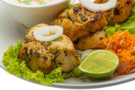 kebob: Chicken Tikka - traditional indian food