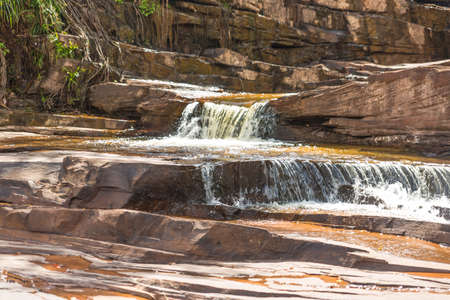 unesco world cultural heritage: Waterfall in Cambodia Stock Photo