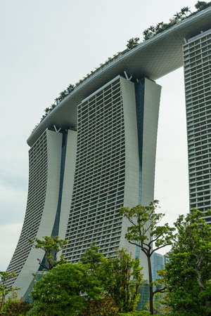 standalone: SINGAPORE - MAY 11: Marina Bay Sands Integrated Resort on May 11, 2014 in Singapore. It was opened in 2011 and features worlds most expensive standalone casino. Editorial