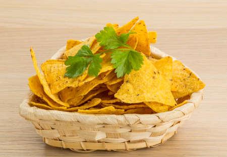 nacho chip: Mexican Nachos in the bowl
