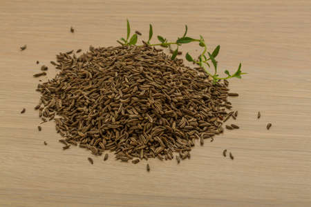 caraway: Caraway seeds on the desk