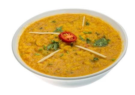 Daal Curry - a hagyományos indiai étel Stock fotó