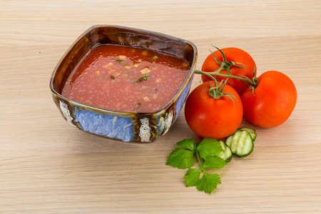 gaspacho: Gaspacho - cold Spanish tomato soup