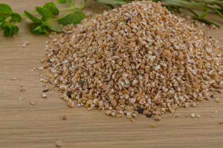 Raw Crusted Pearl Barley with herbs photo