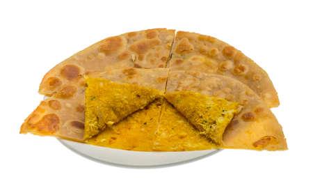 paratha: Chicken Paratha - indian traditional cuisine Stock Photo