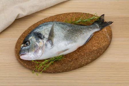 Raw dorado - fish ready for cooking photo