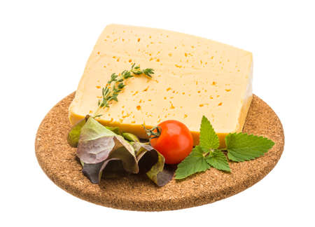 dairy products: Cheese with thyme and tomato