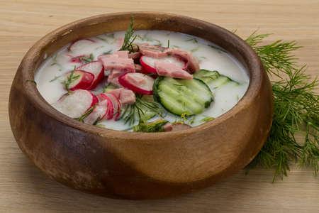 okroshka: Traditional Russian cold soup - Okroshka