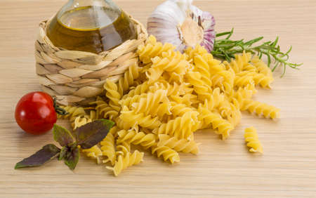 rotini: Fusilli with tomato and herbs