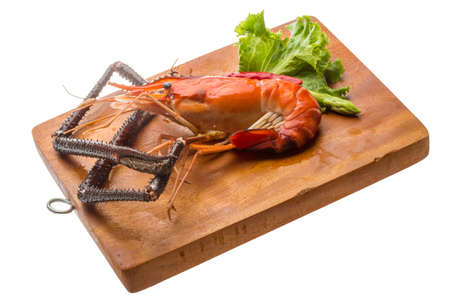 Giant Freshwater Prawn boiled with pepper photo