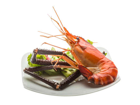 Giant Freshwater Prawn boiled with pepper