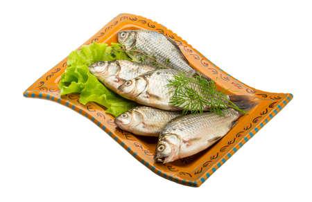 karausche: Raw Karausche Fische
