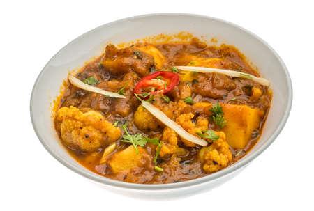 onion bhaji: Alu Gobi - potatoes with cauliflower, spices and herbs