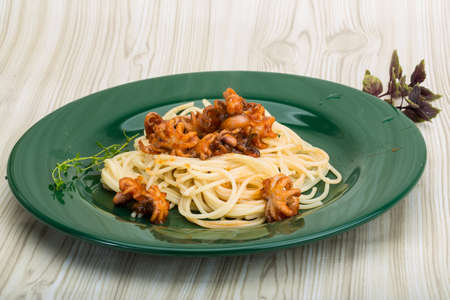 marinara: Pasta with octopus - italian spaghetti marinara