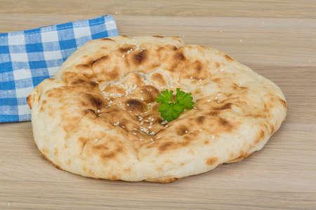 Armenian bread - on the wood  photo