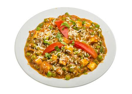 paneer: Mutter Paneer - Indian traditional food Stock Photo