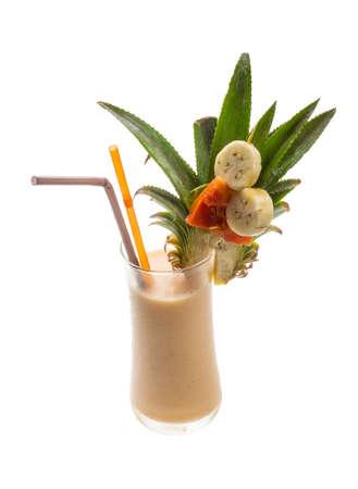 Pineapple shake with banana and papaya photo