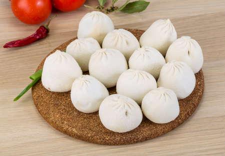 georgian: Georgian dumplings - Khinkali with minced meat and herbs