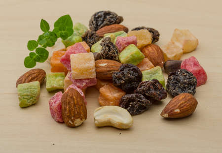 Fresh Nuts and dry fruits mix heap photo
