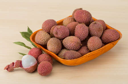 litschi: Famous Tropical fruit lychee Stock Photo