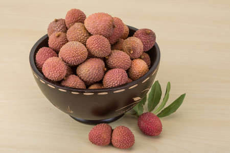 Famous Tropical fruit - lychee - fresh and sweet photo