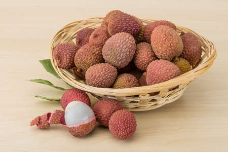 lechee: Famous Tropical fruit - lychee - fresh and sweet