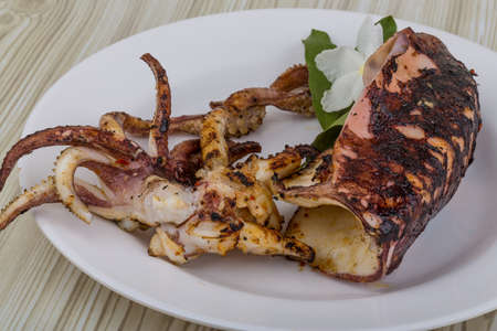 cuttlefish: Grilled cuttlefish with spices in the bowl Stock Photo