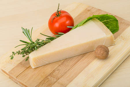 Parmesan: Parmesan cheese with rosemary, tomato and thyme