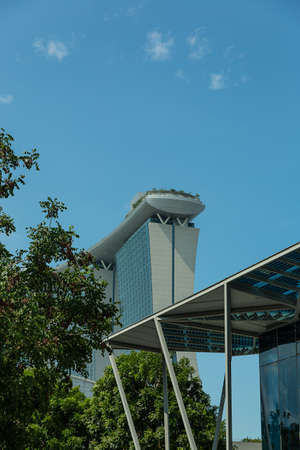 standalone: SINGAPORE - MAY 11: Marina Bay Sands Integrated Resort on May 11, 2014 in Singapore. It was opened in 2011 and features worlds most expensive standalone casino. Stock Photo
