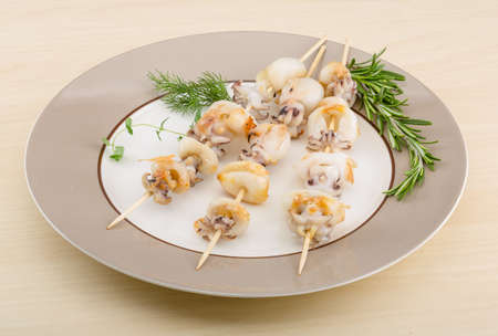 cuttlefish: Grilled cuttlefish bbq with rosemary and pepper