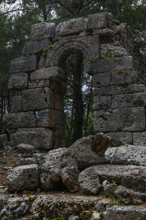 past civilizations: Ancient Phaselis ruins in Turkey Kemer Antalya