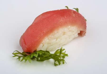 nori: Japan traditional fresh cold tuna sushi with nori