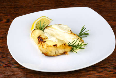 barramundi: Baked perch fillet with rosemary and lemon