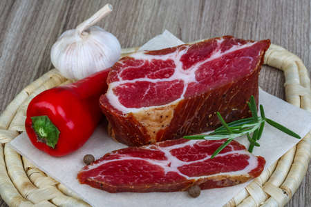 chuck: Chuck steak with herbs and spices - ready for eat
