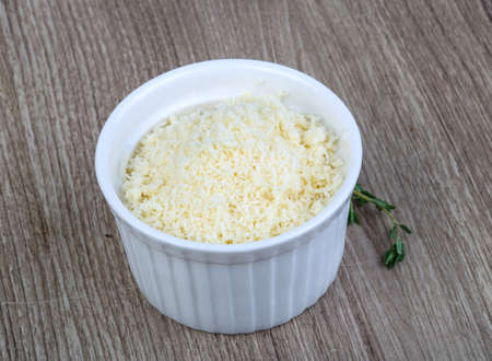 shredded: Shredded parmesan cheese ready for delicous cooking