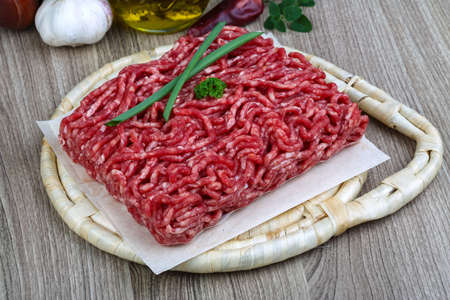 minced beef: Raw Minced beef meat - ready for cooking