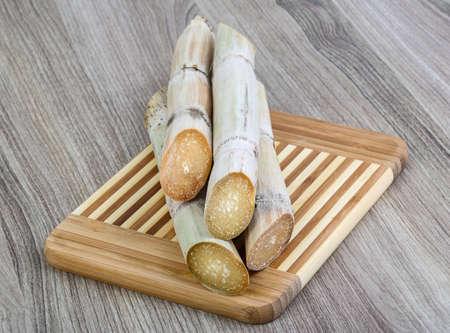 produce energy: Ripe Sugar sticks on the wood background