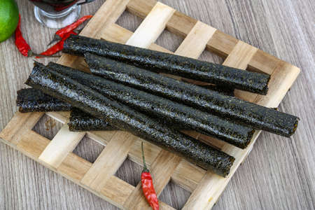 Japan traditional cuisime - Seaweed nori rolls snack chips