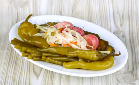 appetiser: Pickled vegetables snack - traditional caucasian appetiser