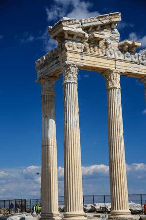 apollo: Apollo temple in Side ancient ruins Turkey