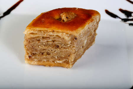 baklawa: Turkish deliicous - baklava with wallnut