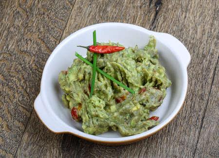 tex mex: Mexican cuisine - Guacamole - avocado, tomato, pepper and onion