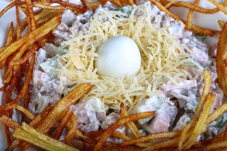 stile: Russian salad - socket stile with quail egg