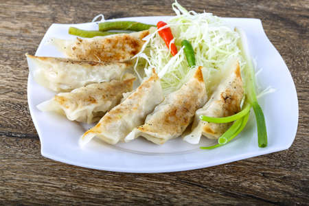 gyoza: Japanese dumplings with herbs and spices